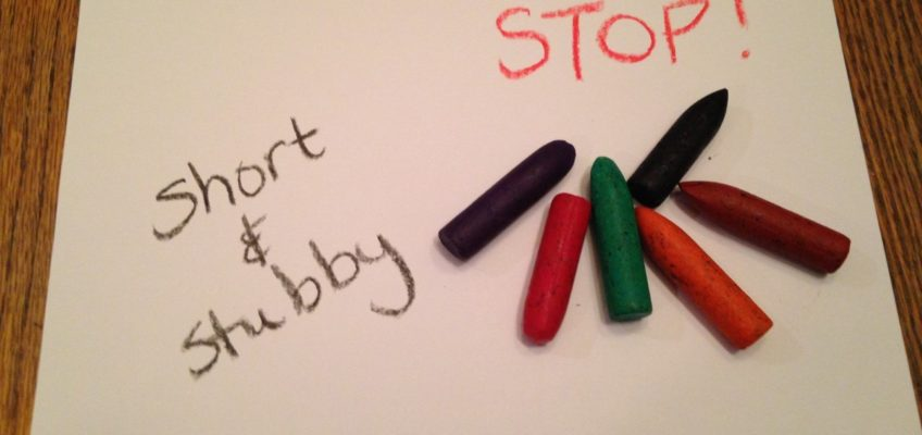 STOP! Save those broken crayons