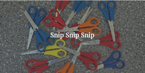 Developing scissor skills~ one SNIP! at a time